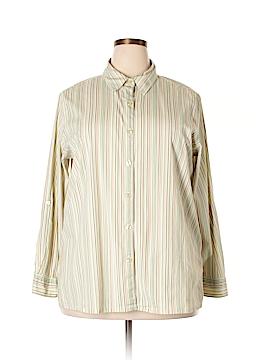 Classic Elements 3/4 Sleeve Button-Down Shirt Size 20 - 22 (Plus)