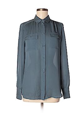 J. Crew Long Sleeve Silk Top Size 4 (Tall)