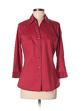 Zac & Rachel 3/4 Sleeve Button-Down Shirt Size M