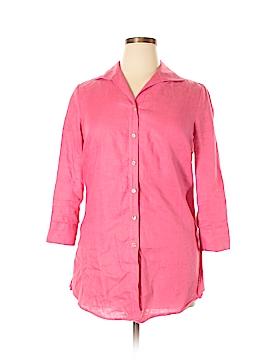 Carlisle 3/4 Sleeve Button-Down Shirt Size 10