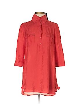 Cotton Express 3/4 Sleeve Button-Down Shirt Size S