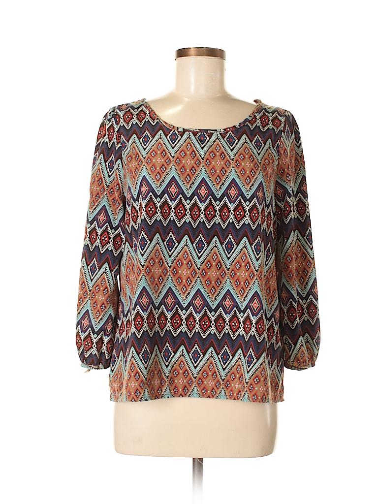 KLD Signature Women 3/4 Sleeve Blouse Size M