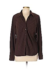 Worthington Women Long Sleeve Button-Down Shirt Size L