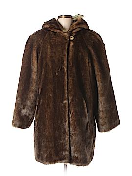 Dennis Basso Faux Fur Jacket Size M