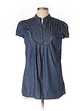 Rhapsody Short Sleeve Button-Down Shirt Size L