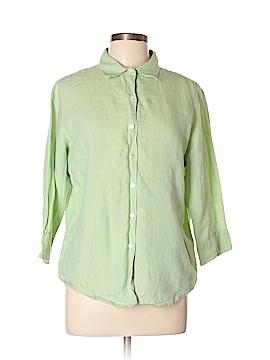 L.L.Bean Factory Store 3/4 Sleeve Button-Down Shirt Size L