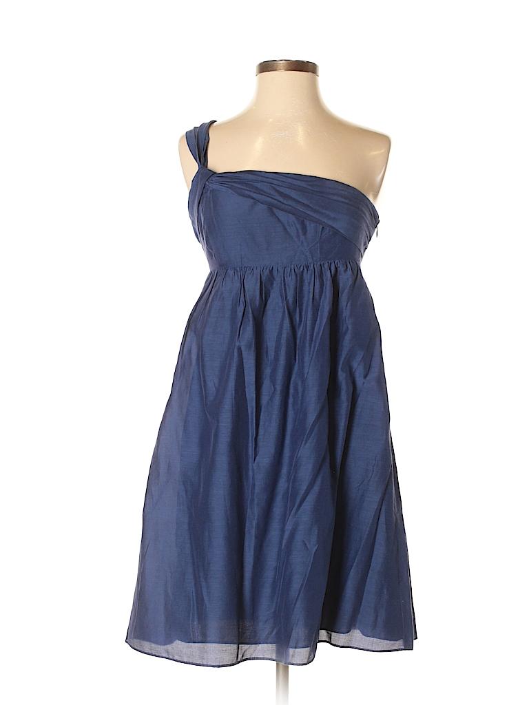 Ann Taylor LOFT Solid Navy Blue Cocktail Dress Size 2 - 74% off ...