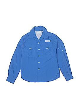 Columbia Long Sleeve Button-Down Shirt Size S (Kids)