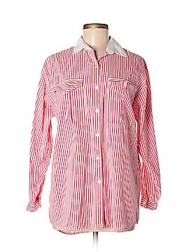 Diane von Furstenberg Long Sleeve Button-Down Shirt Size M