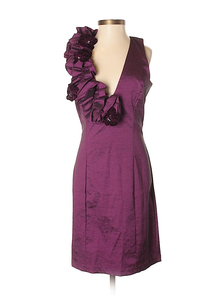 Jessica McClintock Solid Dark Purple Cocktail Dress Size 4 - 75% off ...
