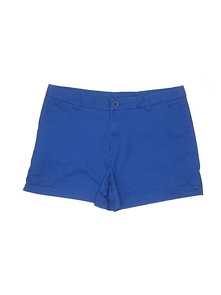 Bcg Solid Blue Khaki Shorts Size 14 66 Off Thredup