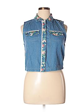 Koret Sleeveless Button-Down Shirt Size 14