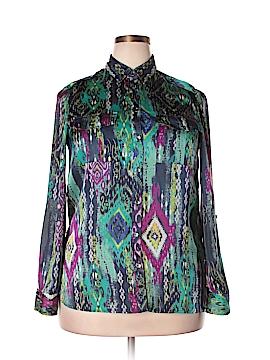 Jones New York Signature Long Sleeve Button-Down Shirt Size 10