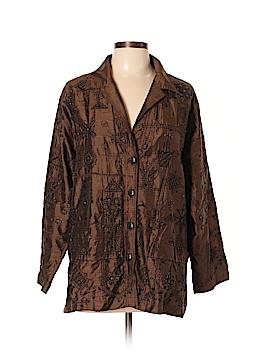 Chico's Design Silk Blazer Size Lg (2)