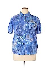 Erika Women Short Sleeve Button-Down Shirt Size XL