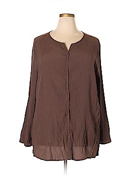 Jaclyn Smith Long Sleeve Blouse Size 3X (Plus)