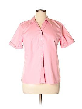 Talbots Short Sleeve Button-Down Shirt Size 14