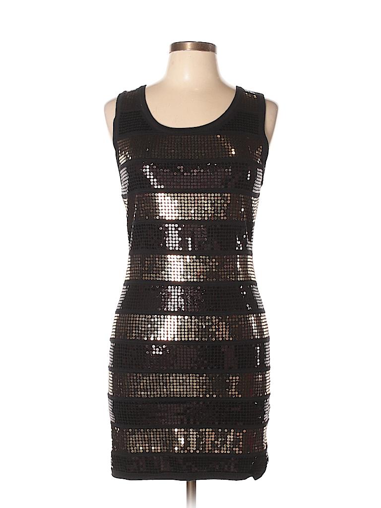 Forever 21 Stripes Black Cocktail Dress Size L - 54% off | thredUP