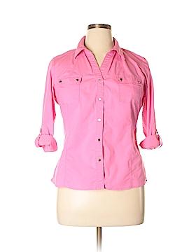 Zac & Rachel 3/4 Sleeve Button-Down Shirt Size L