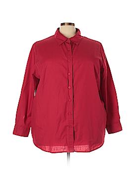 Roaman's Long Sleeve Button-Down Shirt Size 26 (2X) (Plus)