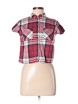 Topshop Short Sleeve Button-Down Shirt Size 0 (Petite)