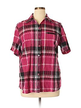 Allison Daley Short Sleeve Button-Down Shirt Size 16