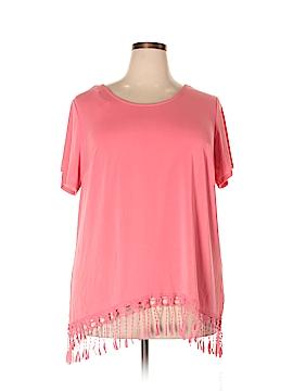 I.N. Studio Short Sleeve Silk Top Size 1X (Plus)