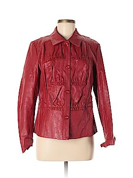 Erin London Faux Leather Jacket Size M