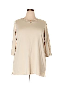 Denim Co 3/4 Sleeve Top Size 1X (Plus)