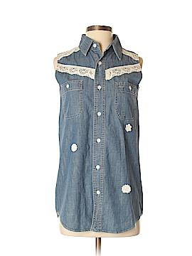 Urban Renewal Sleeveless Button-Down Shirt Size S