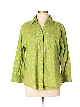 Wrangler Jeans Co 3/4 Sleeve Button-Down Shirt Size XL