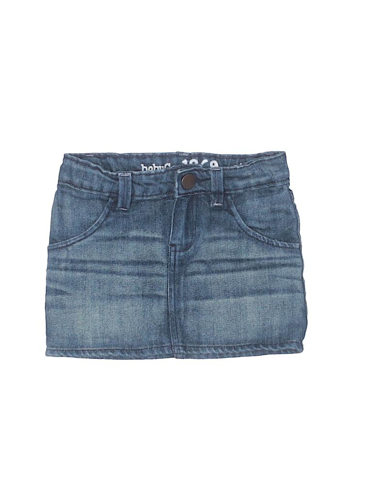 51b7712495 Baby Gap 100% Cotton Solid Dark Blue Denim Skirt Size 4 - 92% off ...