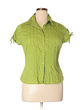 Antilia Femme Short Sleeve Button-Down Shirt Size XL