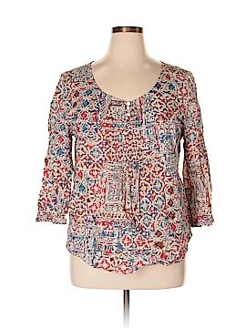 Lauren Jeans Co. 3/4 Sleeve Button-Down Shirt Size XL