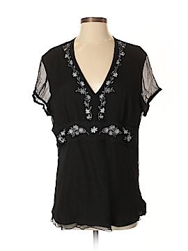Spenser Jeremy Short Sleeve Silk Top Size XL