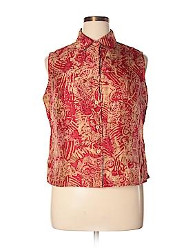 Nygard Collection Sleeveless Silk Top Size 14