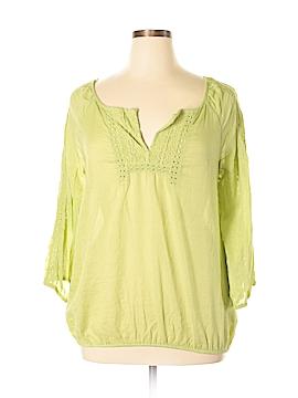 Nine West Vintage America 3/4 Sleeve Blouse Size XL