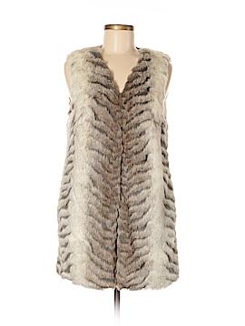 Romeo & Juliet Couture Faux Fur Vest Size M