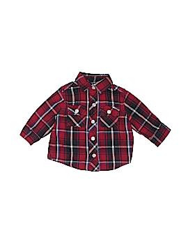 Joe Long Sleeve Button-Down Shirt Size 3-6 mo