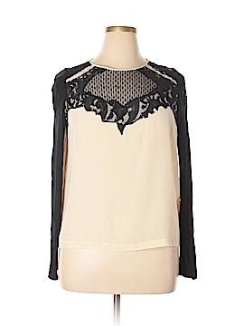 Diane von Furstenberg Long Sleeve Silk Top Size 14