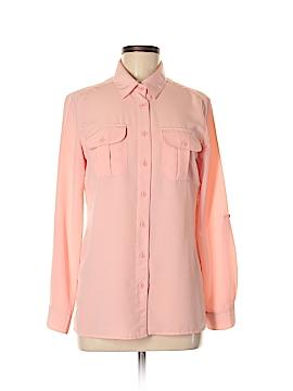 Elementz Long Sleeve Button-Down Shirt Size S