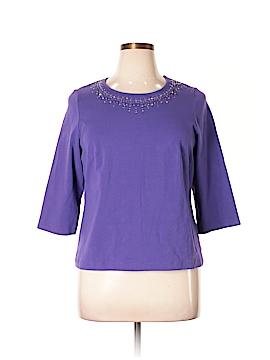 Laura Ashley 3/4 Sleeve Top Size 1X (Plus)