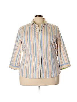 Sag Harbor 3/4 Sleeve Button-Down Shirt Size 3X (Plus)