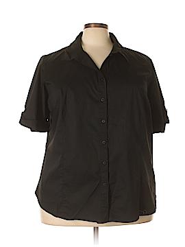 George Short Sleeve Button-Down Shirt Size 28 (Plus)