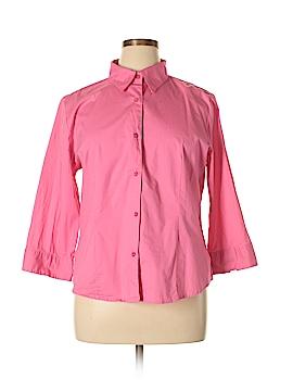 Chadwicks 3/4 Sleeve Button-Down Shirt Size XL