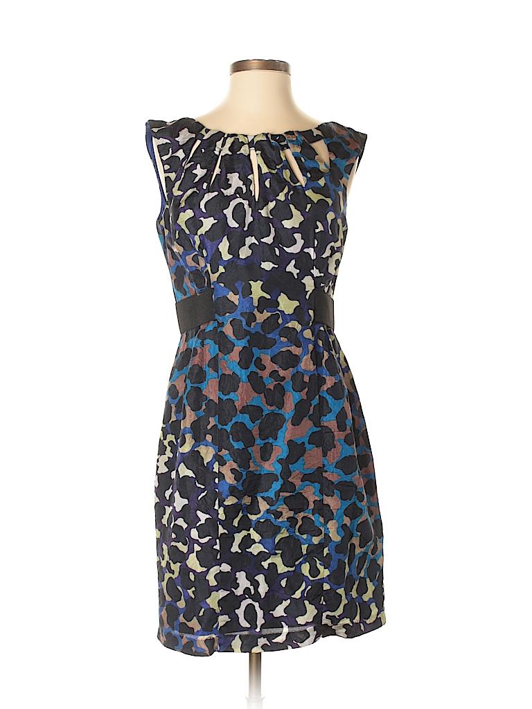 fc3fb8dd17a5 Nanette Lepore Animal Print Black Casual Dress Size 4 - 99% off ...