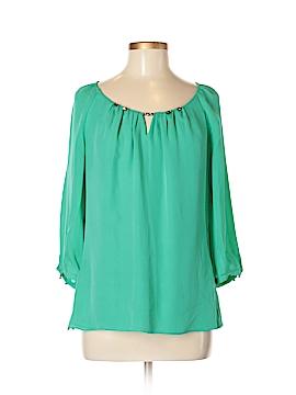 White House Black Market 3/4 Sleeve Silk Top Size M