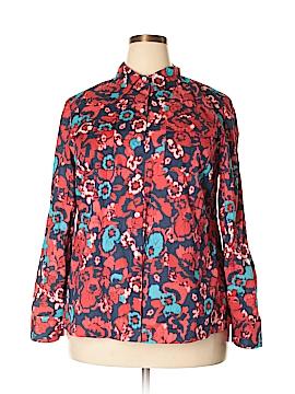 Jones New York Long Sleeve Button-Down Shirt Size 1X (Plus)