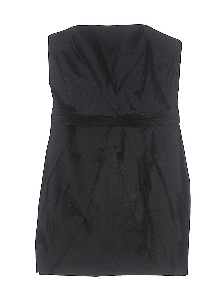 Jessica McClintock Solid Black Cocktail Dress Size 6 - 75% off | thredUP