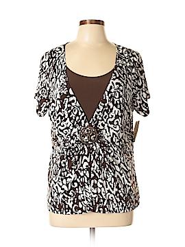 Kim Rogers Short Sleeve Blouse Size XL